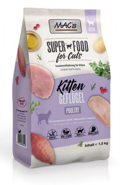 MAC's Cat Kitten Trockenfutter mit Geflügel & Shrimps