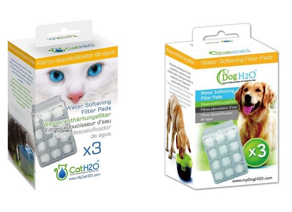 Lillylin Wasserenthärtungsfilter für CatH2O & DogH2O - 3 Stück