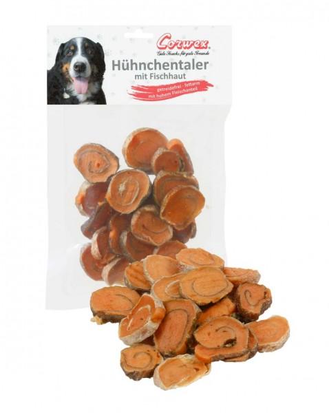 Corwex Hundesnack Huhntaler mit Fischhaut
