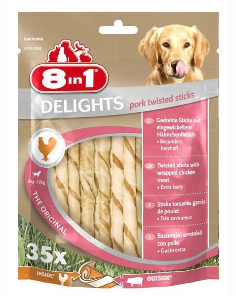 8in1 Delights Pork twisted sticks - 35 Stück