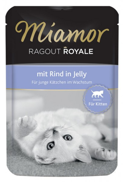 MIAMOR Ragout Royale in Jelly Kitten mit Rind - 100g