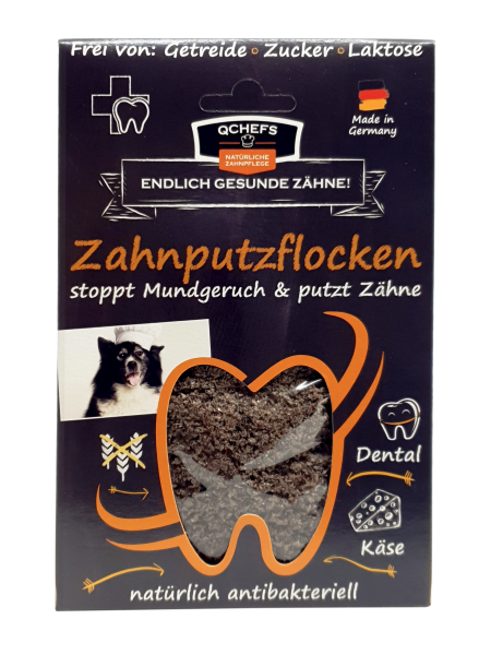 QCHEFS Zahnputzflocken für Hunde - 90 g