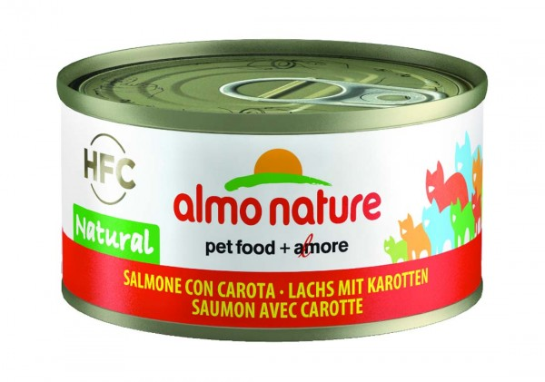 Almo Nature Katzenfutter HFC Jelly mit Lachs & Karotte