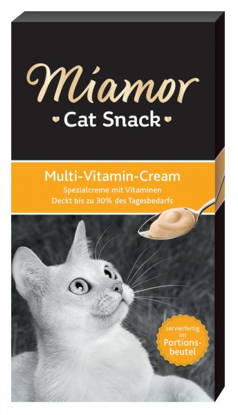 MIAMOR Cat Snack Multi-Vitamin-Cream - 6x15g