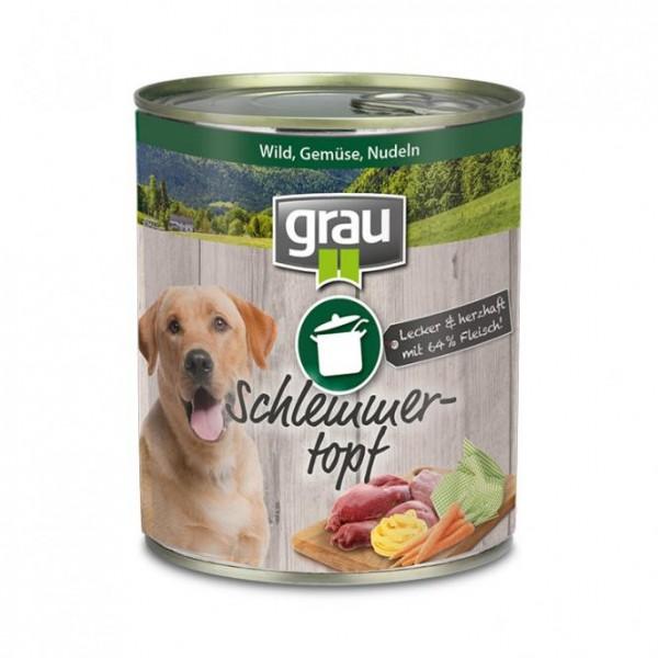 Grau Schlemmertopf Wild, Gemüse und Nudeln