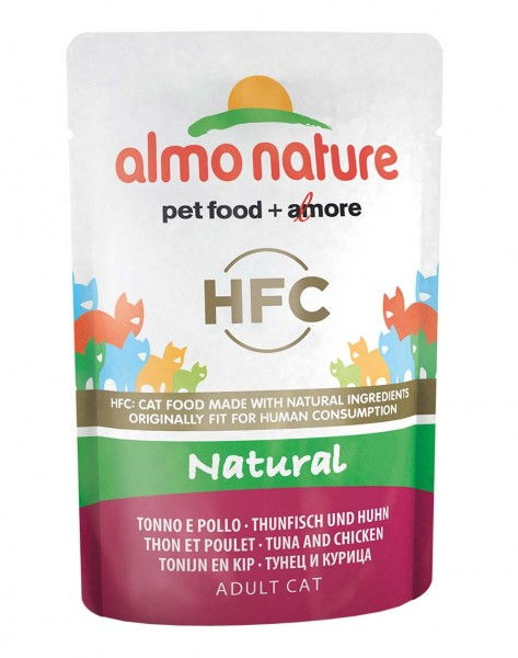 Almo Nature Katzenfutter HFC Natural Thunfisch und Huhn