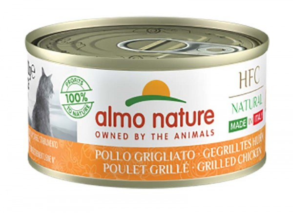 Almo Nature Katzenfutter Gegrilltes Huhn, Made in Italy