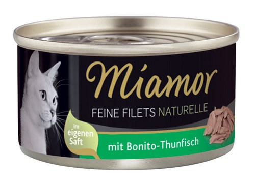 MIAMOR Feine Filets Naturelle mit bonito Thun - 80g