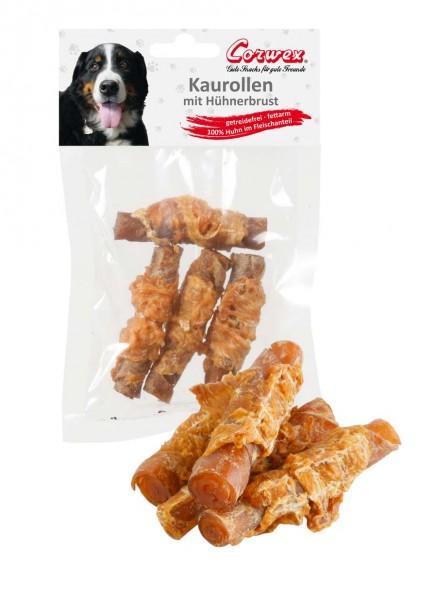 Corwex Hundesnack Hühnerbrust Kaurolle