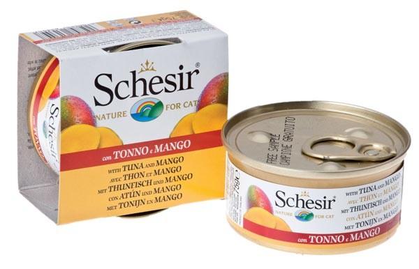 Schesir Cat mit echten Früchtestückchen mit Thunfisch & Mango - 75g