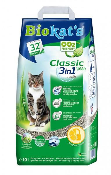 Biokat's Katzenstreu Classic Fresh 3in1 - 10 Liter