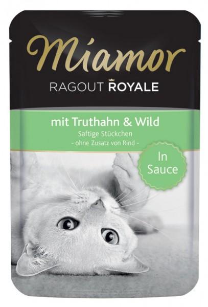 MIAMOR Ragout Royale in Sauce mit Truthahn & Wild - 100g
