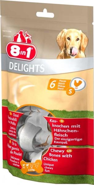 8in1 Delights Kauknochen im Beutel - S (6 Stück)