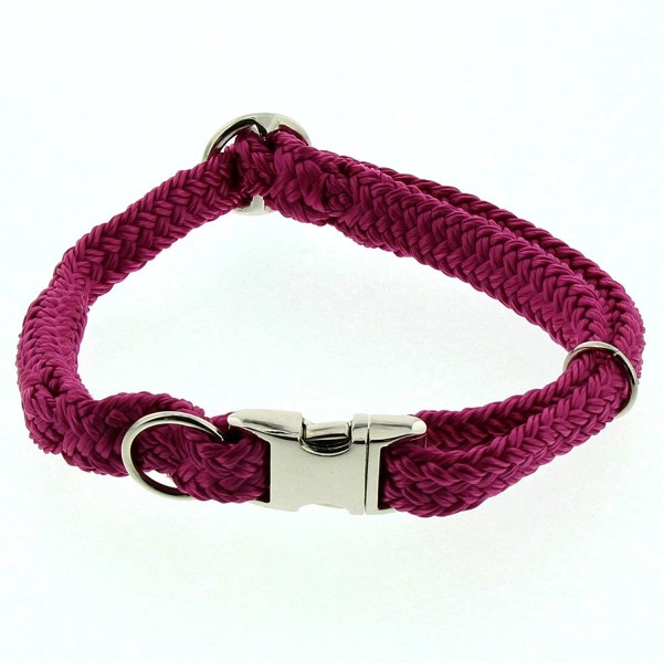 Dinoleine Hunde-Halsband mit Click-Verschluss, Größenverstellbar, Polyester, Größe: L/ 45-70 cm, Mag