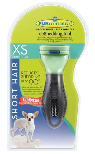 FURminator deShedding-Pflegewerkzeug für kurzhaarige Schoßhunde - XS < 4,5kg