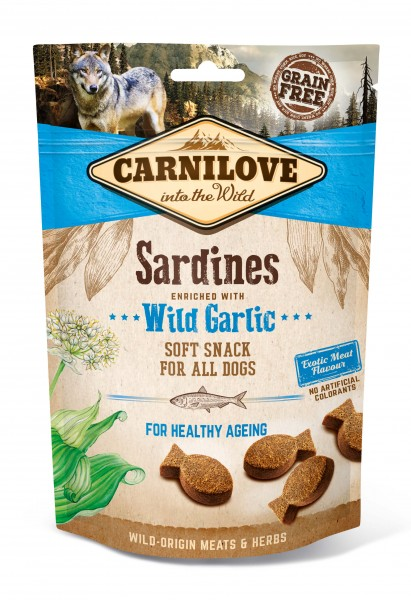 Carnilove Hund Soft Snack Sardinen, Sardines with Wild Garlic 200 g