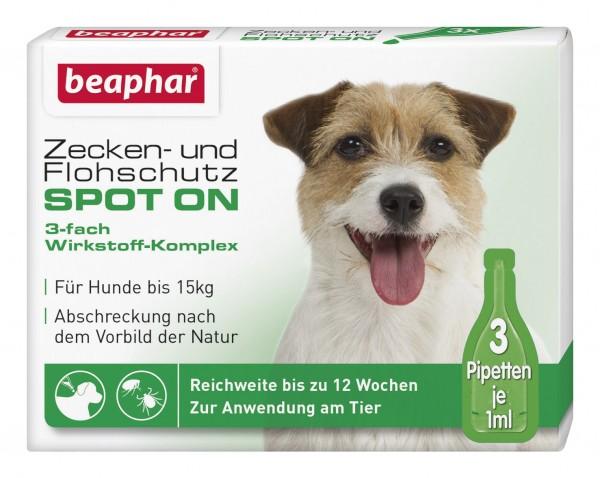 Beaphar Zecken- und Flohschutz SPOT-ON bis 15kg - 3x1ml