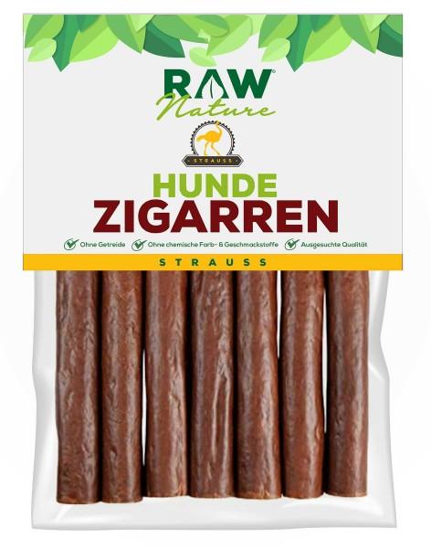 RAW Nature Hunde-Zigarre - Monoprotein 98% Fleischanteil mit Strauß