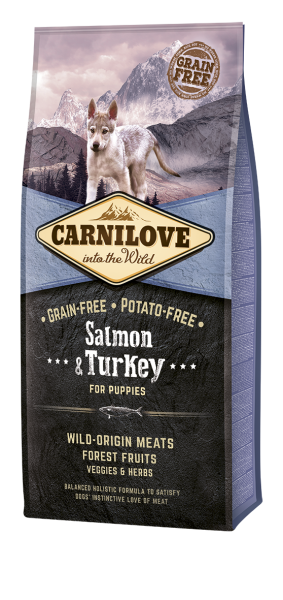 Carnilove Hund Puppy Lachs & Truthahn, Salmon & Turkey