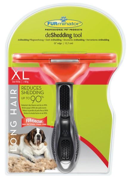 FURminator deShedding-Pflegewerkzeug für langhaarige große Hunde - XL ab 41kg