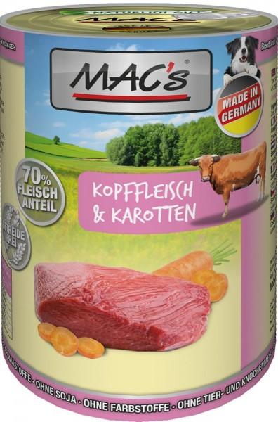 MAC's Dog mit Kopffleisch & Karotten (getreidefrei)