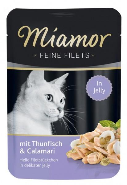 MIAMOR Feine Filets in Jelly Pouchbeutel mit Thun & Calamari - 100g