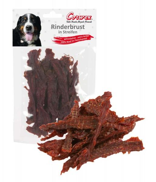 Corwex Hundesnack Rinderbrust in Streifen