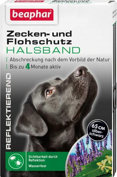 Beaphar Zecken- und Flohschutz Halsband Reflektierend für Hund 65cm
