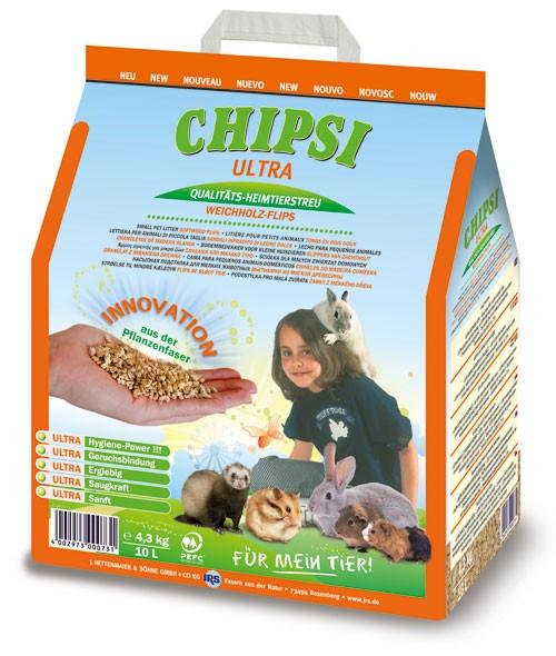 Chipsi Ultra Heimtierstreu Weichholz-Flips - 10 L (4,3 kg)