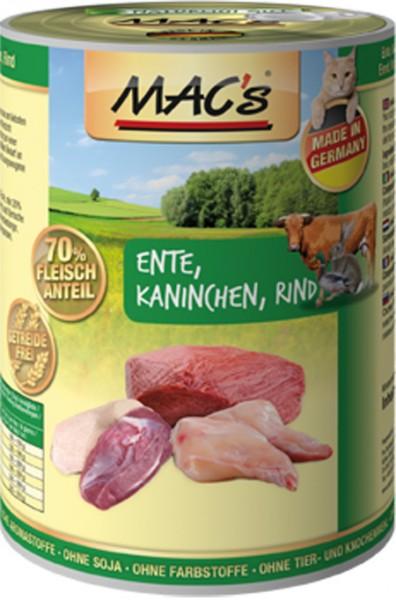 MAC's Cat mit Ente, Kaninchen & Rind (getreidefrei)
