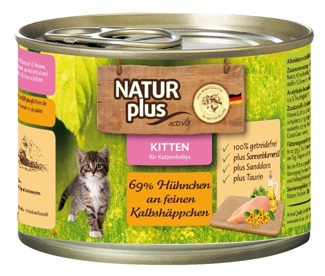 natur plus katzenfutter kitten h hnchen kalb getreidefrei 200g nassfutter katzenfutter. Black Bedroom Furniture Sets. Home Design Ideas