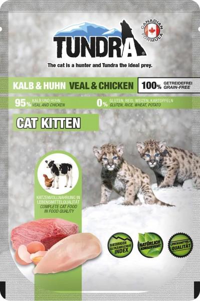 Tundra Katzenfutter Kitten Kalb & Huhn, Pouchbeutel