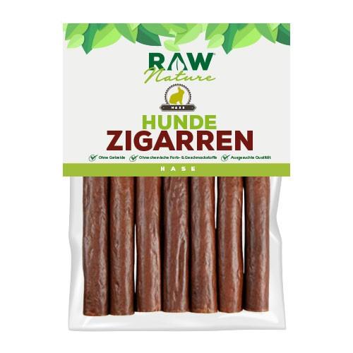 RAW Nature Hunde-Zigarre, Hase - Monoprotein - 98% Fleischanteil