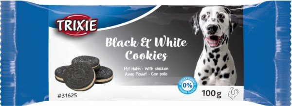 Trixie Hundesnack Black & White Cookies mit Huhn
