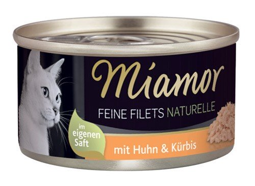 MIAMOR Feine Filets Naturelle mit Huhn & Kürbis - 80g