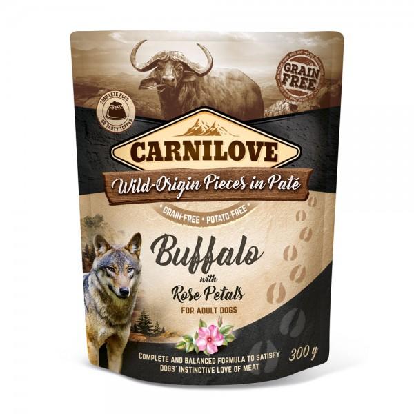 Carnilove Hund Pouch Büffel, Buffalo with Rose Petals