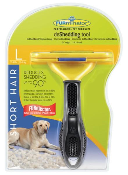 FURminator deShedding-Pflegewerkzeug für kurzhaarige große Hunde - L (23-41kg)