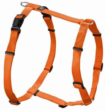 HUNTER VARIO RAPID Hundegeschirr, Nylon, 5-fach verstellbar, weich, robust, M-L 64-100cm, orange