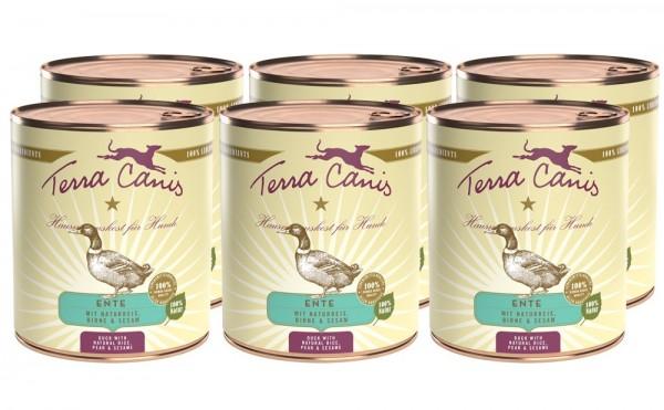 Terra Canis Classic Nassfutter, Ente mit Naturreis