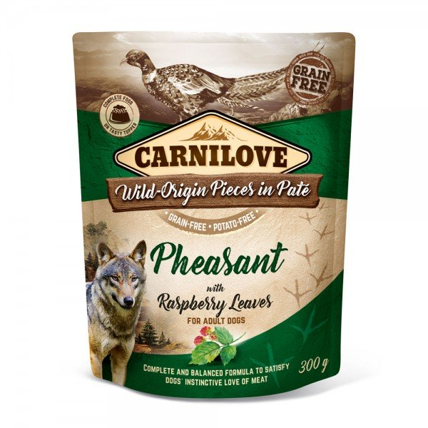 Carnilove Hund Pouch Fasan, Pheasant with Raspberry Leaves