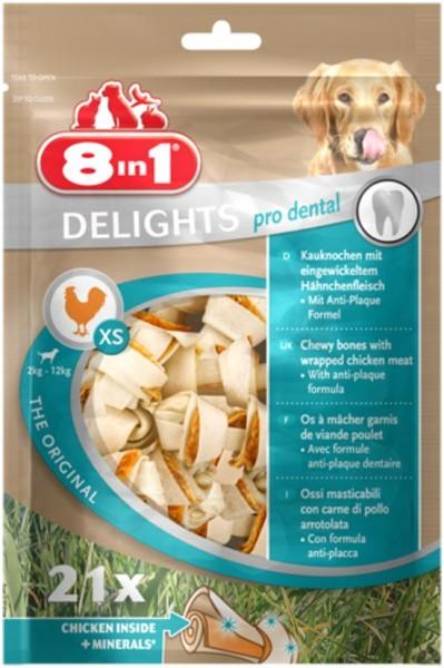 8in1 Delights Dental im Beutel - XS (21 Stück)