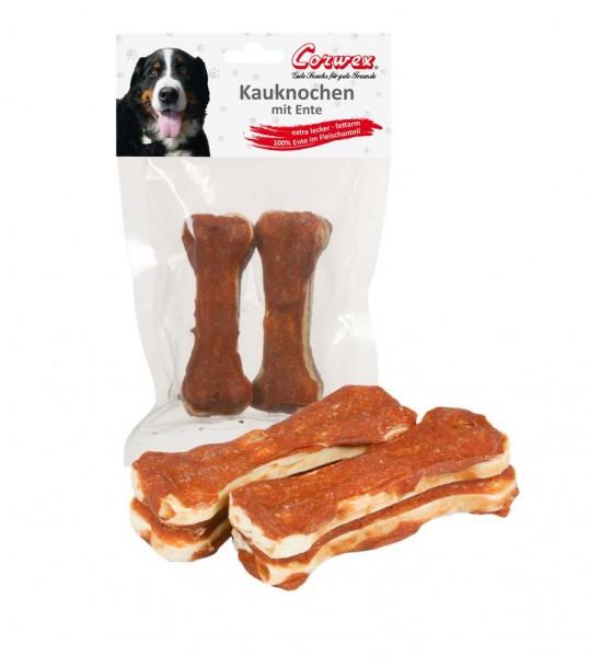 Corwex Hundesnack 2 x 10cm Kauknochen mit Ente