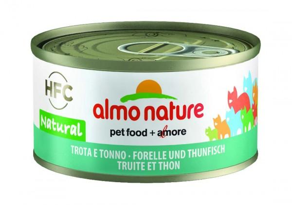 Almo Nature Katzenfutter HFC Jelly mit Forelle & Thunfisch