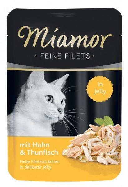 MIAMOR Feine Filets in Jelly Pouchbeutel mit Huhn & Thunfisch - 100g
