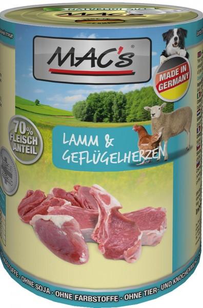 MAC's Dog mit Lamm & Geflügelherzen ( getreidefrei )