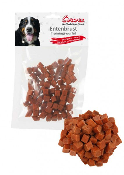Corwex Hundesnack Entenwürfel Trainings-Happen