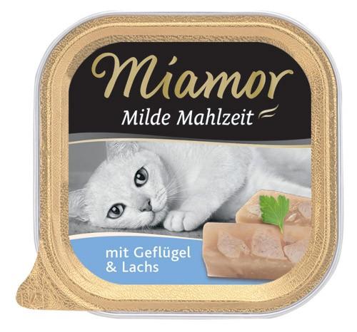 MIAMOR Milde Mahlzeit mit Geflügel & Lachs - 100g