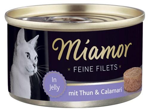 MIAMOR Feine Filets in Jelly mit Thun & Calamari - 100g