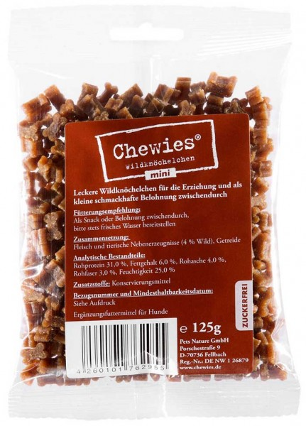 Chewies Mini Wildknöchelchen - 125g