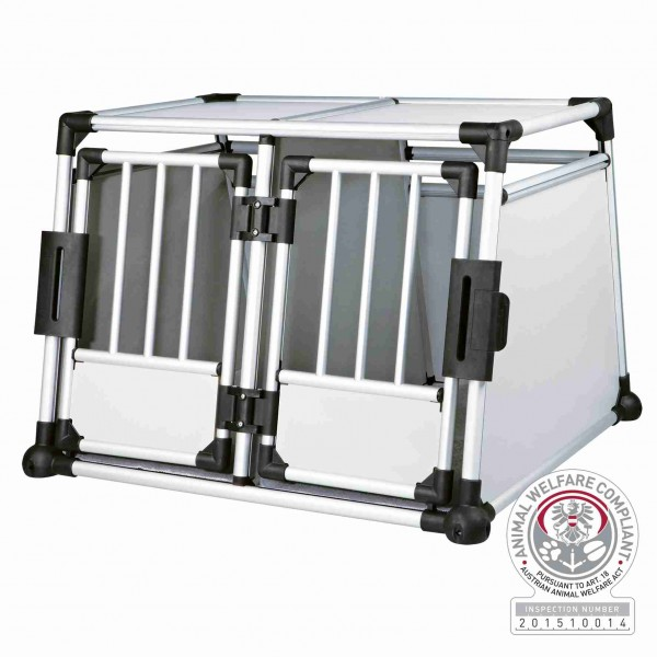 Trixie Transportbox Aluminium Doppelt Silber/Hellgrau 93 x 69 x 88 cm